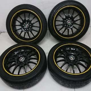 17 '' Sport Rim With Tyre 5x100 5x114.3 (SR812)