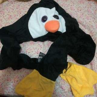 全新超得意小童企鵝頸巾連帽