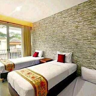 Sewa Villa Harian Murah,4 Kt,3 Km,water Heater,wifi,extrabed,dll