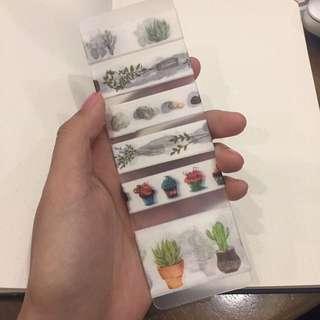 Plant Washi Tape set, multi-design, 6 in 1