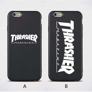 Thrasher Soft Case for IPHONE 5/5s/5se, 6/6s, 6+/6s+, 7/8, 7+/8+, X