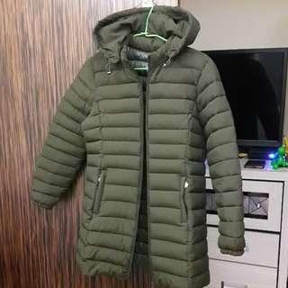 🚚 科技羽絨棉大衣保暖外套*墨綠色#舊愛換新歡