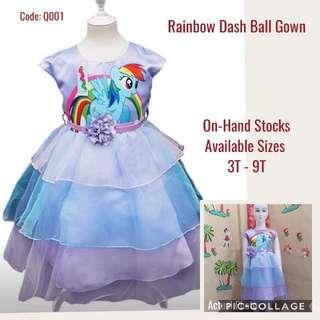 Rainbow Dash Ball Gown