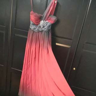 Ombre toga evening dress, cheap!!!