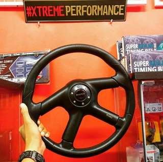 STEERING MOMO 4 SPOKE PUTRA PU LEATHER