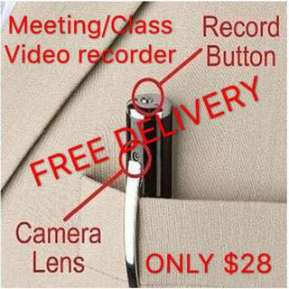 「STOCK ON HAND」Camera Pen/Camcoder/DVR/Video Recorder/HD/TF card/Mini SD/Hidden Camera/Voice recorder/Security/Protection/Protect yourself
