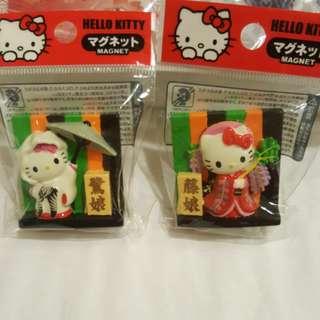 Hello Kitty Kabuki II Fridge Magnets