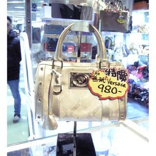 Versace Silver White Pvc Canvas Shoulder Hand Bag 范思哲 銀色 白色 帆布 防水物料 手挽袋 手袋 肩袋 袋