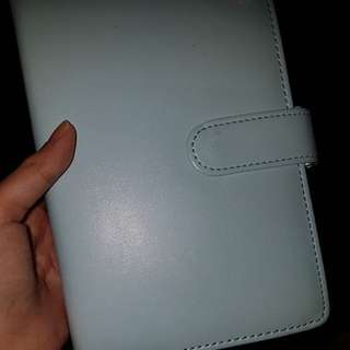 Pu leather baby blue planner