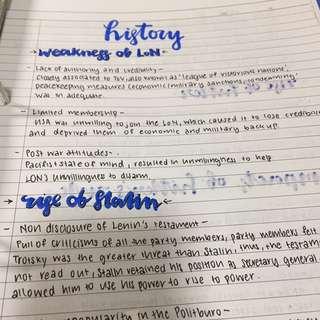 O level Elective History Notes