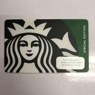 Green Siren Special Edition Starbucks Card