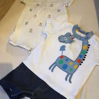 Baby Boy Romper Bundle 3-6m
