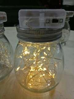 Fairy lights in a Jar w/ battery
