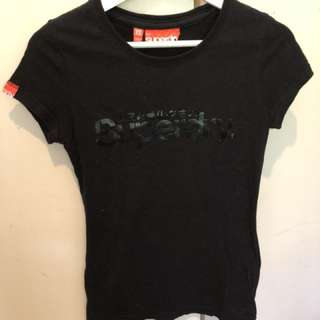 SUPERDRY black tee XS