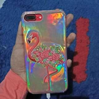 Case iphone 7plus flamingo