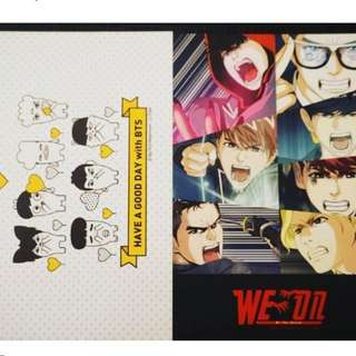 BTS全新官方名信片