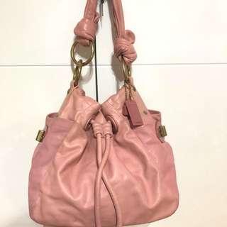 Coach Pink Bucket Bag