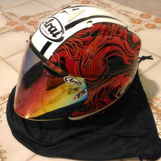 Authentic arai riptide red Size S