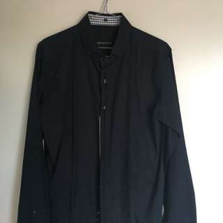 Formal black stylish shirt - small