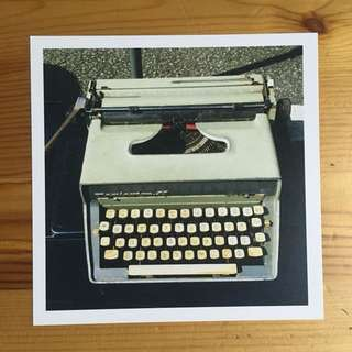 Sungei Uncle Postcard - Vintage Typewriter