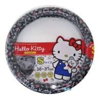 [租約期满 開倉大清貨] 日本直送 Hello kitty 車用方向盤套 (Black) Hello Kitty Steering Wheel Cover (black)