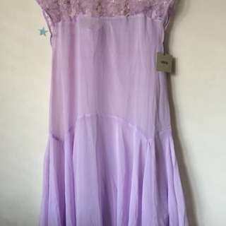 Lilac chiffon dress