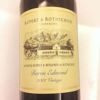 紅酒 Rupert & Rothschild Baron Edmond 2001  Red Wine