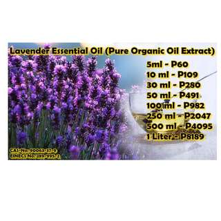 Lavender Essential Oil (Pure Organic Oil Extract)