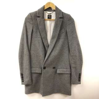 Alexander Mcqueen gray long jacket size 38