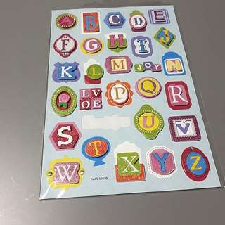 Alphabet Design Stickers