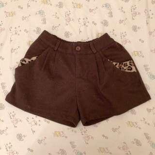 🚚 全新 豹紋邊 咖啡/黑短褲
