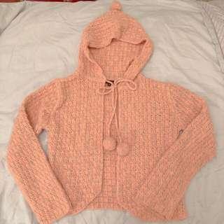 🚚 全新 針織毛球 橘色系外套