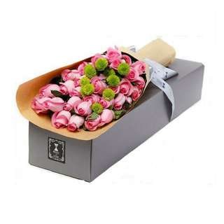 Surprise Box for Vday Pink roses - 0067