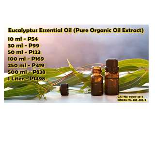 Eucalyptus Essential Oil (Pure Organic Oil Extract)