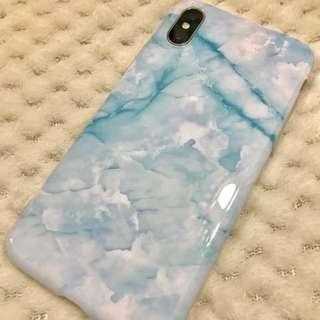 *9折* iPhone X 藍雲石面手機套 Phone Case Blue Marble iphone