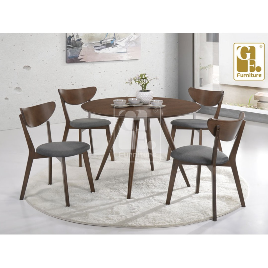 1 4 ROUND DINING ROOM SET X2 Rumah Perabot Di Carousell