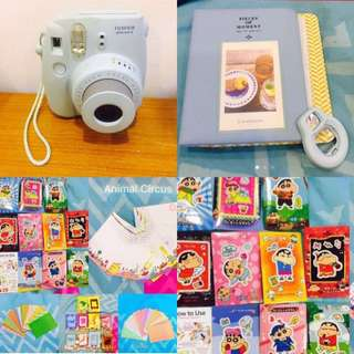 Instax Camera Blue + Album + selfie +70 pcs photo frame