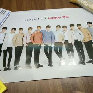 Wanna One Lens Nine Group Poster