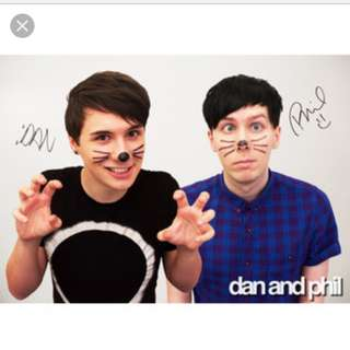 Dan and Phil Signed Poster