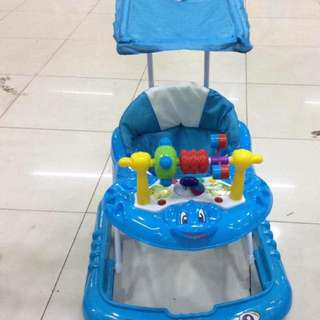 Color:green blue red pink  baby cart 2in1 music sun umbrella