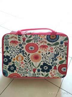 Red Flowerish Big Travel Bag