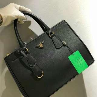 PRADA Saffiano Lux Tote Black Bag