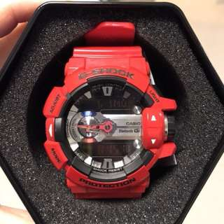 90% NEW CASIO G-Shock G'MIX Red Rubber GBA-400-4ER