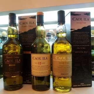無泥煤味既 Caol Ila 17 year old UNPEATED Cask Strength 2015 limited edition single malt whisky