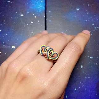 [包郵] 💕 手作心心相印戒指 💕