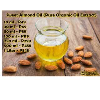 Sweet Almond Oil (Pure Organic Oil Extract)