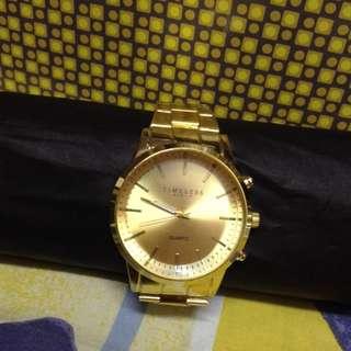 Classy Timeless Quartz Gold Stainless Steel Watch