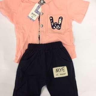 Short sleeve boy's apparel