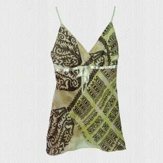 LIGHT GREEN PRINTED CAMI