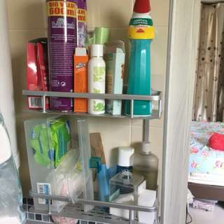 BNIB Toilet shelf bathroom rack - no drilling required.